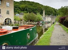Hebden Bridge Vereinigtes Königreich - narrowboats stockfotos narrowboats bilder alamy