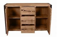 sideboard akazie sideboard akazie mit metall schwarz 140 x 40 x 90 cm
