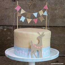 woodland diy cake bunting topper cricut cake bunting