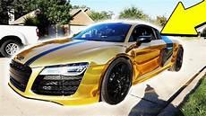audi r8 gold moosecraft s new gold chrome supercar gold audi r8 v10