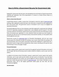 resume sles for government position how to write a government resume for government