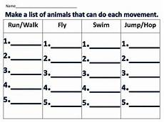 movements of animals worksheets for grade 1 14260 animal movement how animals move science station activity by treasured teaching
