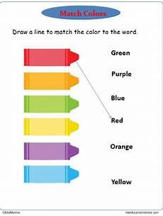 matching colors worksheet for kindergarten 12921 downloadable kindergarten color worksheets printables edumonitor
