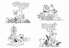 woodland animals coloring pages 17187 woodland forest animals coloring pages for children and adults