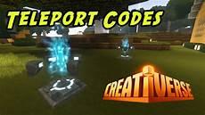 creativerse codes 2020 creativerse teleport codes youtube