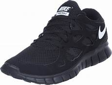 nike free run 2 shoes black white