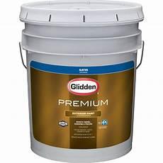 glidden premium 5 gal satin latex exterior paint gl6913 05 the home depot