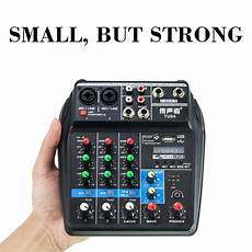 Bluetooth Audio Mixer Bluetooth Connection Audio by 4 Channel Mini Audio Mixer Usb Mixing Sound Card Bluetooth