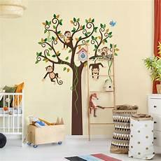babyzimmer wandtattoo adesivo murale no yk27 monkey tree