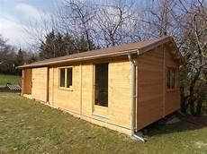 atelier en bois en kit atelier abri en ossature bois en douglas naturel drome sud