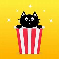 ejemplo de un gato lindo y de una caja personaje de dibujos animados ilustraci 243 n del vector