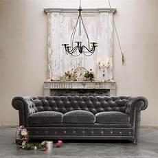 Sofa Samt Grau - d 233 cor de provence grey velvet