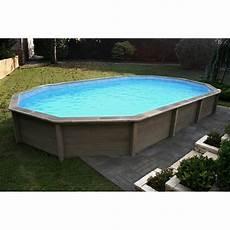 piscine hors sol beton en kit kit piscine b 233 ton aspect bois naturalis