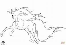 Malvorlagen Wings Unicorn Running Unicorn Coloring Page Free Printable Coloring Pages