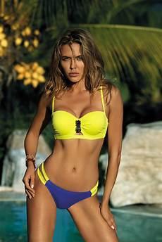 yellow swimsuit bikinis with balconette bra with