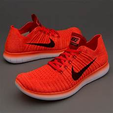 nike free run flyknit mens shoes bright crimson black