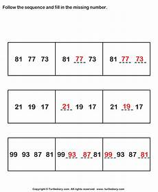 follow sequence and fill missing numbers up to hundred worksheet turtle diary