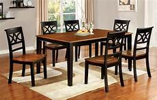 furniture of america two tone adelle 7 piece country style