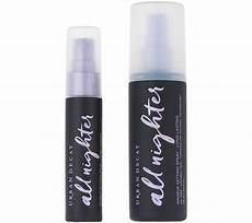 decay all nighter lasting setting spray with