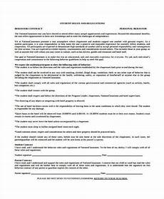 free 6 sle behavior contract forms in pdf word