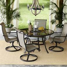 outdoor dining furniture garden oasis providence 5 swivel dining set
