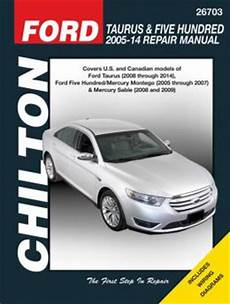 online auto repair manual 2007 ford five hundred seat position control ford taurus five hundred 2005 14 repair manual covers u s and canadian models of ford taurus
