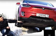 Tesla Model X Conquers Icy Ditch Proving This Isn T Your