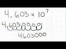 how to go from scientific notation to standard form how to go from scientific notation to standard form youtube