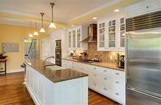 galley kitchen with island and only one wall galley