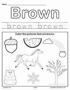 free color brown worksheet preschool preschool colors