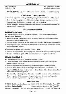resume sle customer service hospitality resume