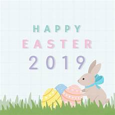 happy easter 2019 card design vector free download