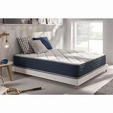 Matelas Royalvisco 120 X 200 Cm Mousse 224 M 233 Moire Blue