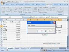 how to copy paste data from one excel worksheet to another using an inputbox youtube