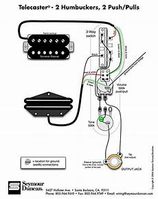 tele wiring diagram 2 humbuckers 2 push pulls telecaster build pinterest diagram