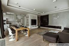 salon z jadalnią wnętrze salonu w nowoczesnym stylu inspiracja homesquare