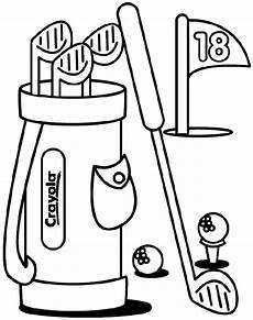 golf coloring page crayola