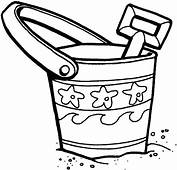 Bucket And Shovel On The Beach Coloring Pages  Best Place