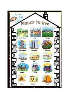 worksheets for places to live 15996 vocabulary worksheets worksheets and types of on