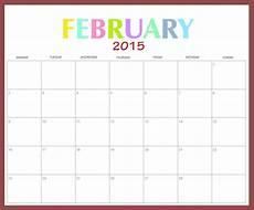 february 2015 calendar landscape template