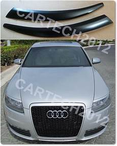 Audi A6 C6 2004 2011 Eyebrows Abs Plastic Tuning Ebay