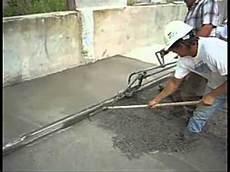Vibratory Screed On Concrete