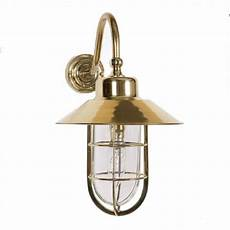nautical style outdoor or indoor porch light in gold