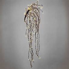 artificial indoor or outdoor wall willow branch with 640 warm white static led lights