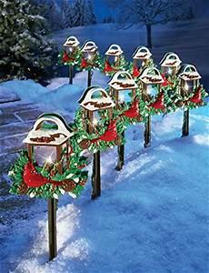 décoration noel extérieur cardinal lantern path lights daily cool gadgets