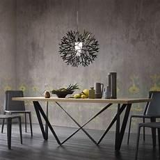table extensible bois 15517 table design extensible en m 233 tal et bois wave 4 pieds