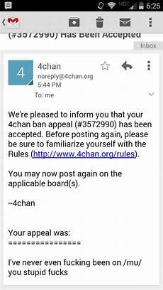 all 4chan boards i got banned from all boards and won an appeal what now wheelchair fags 4chan