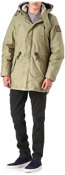 true religion cotton parka in green for lyst