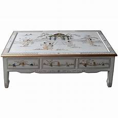 table basse chinoise table basse chinoise laque blanche 6 tiroirs