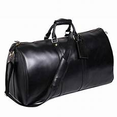 leathario mens genuine leather overnight travel duffel